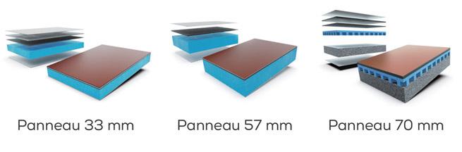 La toiture : chevrons, panneaux, vitrage et store